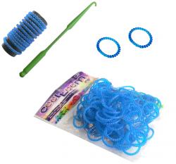 Gumki Karbowane Jeden Kolor 100 szt TM Toys 2438