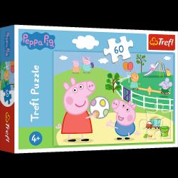 Puzzle Zabawy w Gronie Przyjaciół Świnka Peppa 60 el. Trefl 17356