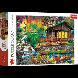 Puzzle Chatka w Lesie 3000 el. Trefl 33074