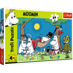 Puzzle Maxi Radosny Dzień Muminków 24 el. Trefl 14324