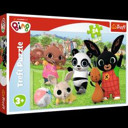 Puzzle Maxi Bing Zabawa w parku 24 el. Trefl 14306