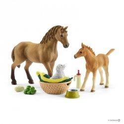 Zestaw Piel Guarter Horse + Żrebię Figurka Schleich 42432