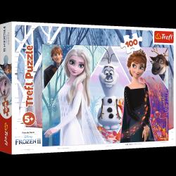 Puzzle Zaczarowana Kraina Frozen 2 Kraina Lodu 2 100 el. Trefl 16418