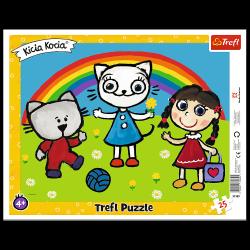 Puzzle Ramkowe Pogodny Dzień Kici Koci 25 el. Trefl 31389