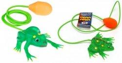 Skacząca żaba z pompką zabawka AM Zabawki 108A