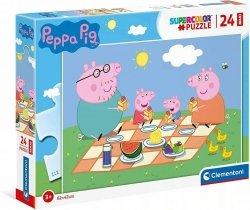 Puzzle Maxi Świnka Peppa Peppa Pig 24 el. Clementoni 24028