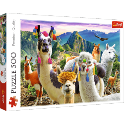 Puzzle Lamy w Górach 500 el. Trefl 37383