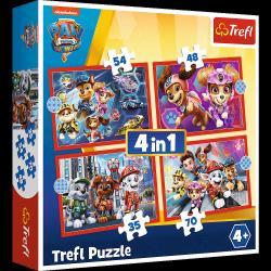 Puzzle 4w1 Psi Patrol w Mieście 35/48/54/70 el. Paw Patrol Trefl 34374