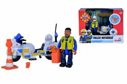 Strażak Sam Motor Policyjny z Figurką Malcolma Simba 9251092