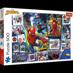 Puzzle Plakaty z Superbohaterem 500 el. Trefl 37391
