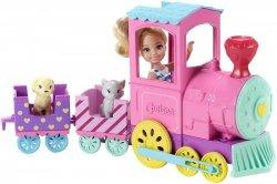 Lalka Chelsea i Pociąg ze zwierzątkami Barbie Mattel FRL86