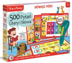 Gra edukacyjna Mówiące pióro 500 pytań Litery Clementoni 50655