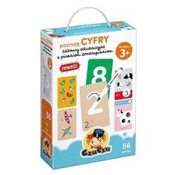 Poznaję cyfry Zabawy edukacyjne z pisakiem zmazywakiem CzuCzu 77353