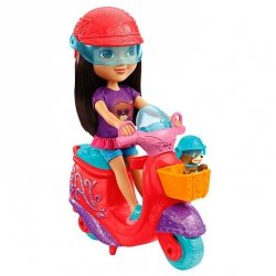 Lalka Dora i piesek Przygoda na skuterze Fisher Price DKJ91