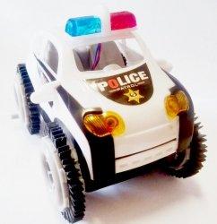 Auto Przewrotka Policja 10 cm Światło
