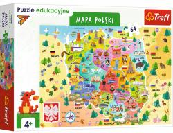 Puzzle Mapa Polski 54 el. Trefl 15556