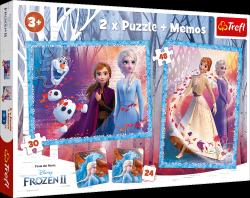 Puzzle 2w1 Tajemnicza Kraina Frozen 2 Kraina Lodu 2 30/48 el. + Memos Trefl 90814
