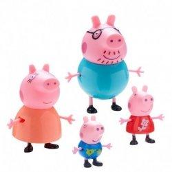 Rodzina Świnki Peppa Zestaw 4 figurek TM Toys 06666