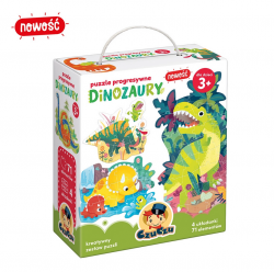 Puzzle Progresywne Dinozaury 71 el. CzuCzu
