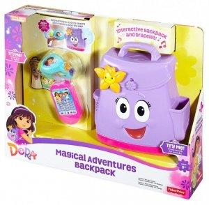 Mówiący plecak i magiczna bransoletka Dora Fisher Price FNN01