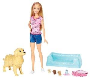 Narodziny piesków Zestaw Lalka Barbie ze szczeniaczkami Mattel FBN17