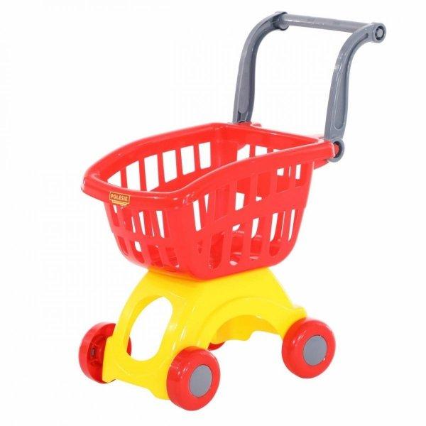 Czerwony wózek do sklepu
