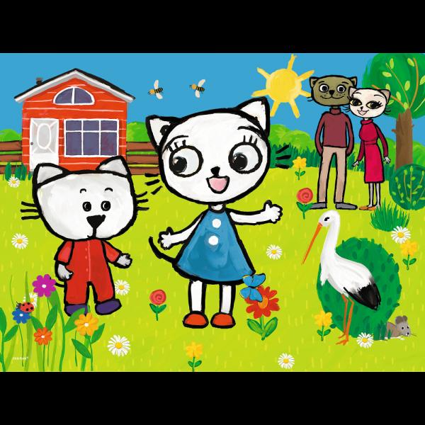 Puzzle Przygody Kici Koci