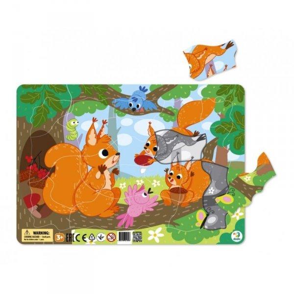 Puzzle Ramkowe Wiewiórki 21 el. Dodo 300224