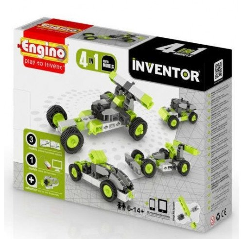 Klocki konstrukcyjne Engino Inventor 4w1 Samochody Formatex 0431