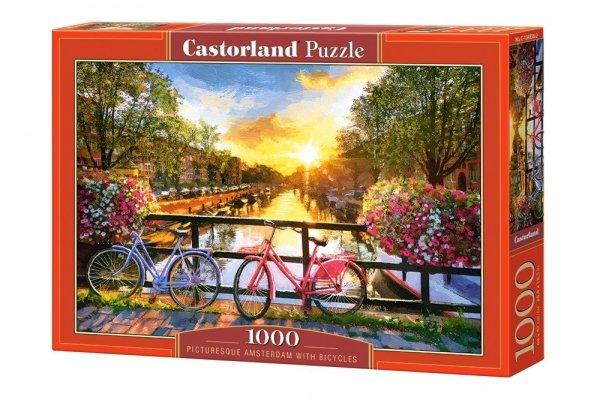 Puzzle Amsterdam z Rowerami 1000 el. Castorland 10453