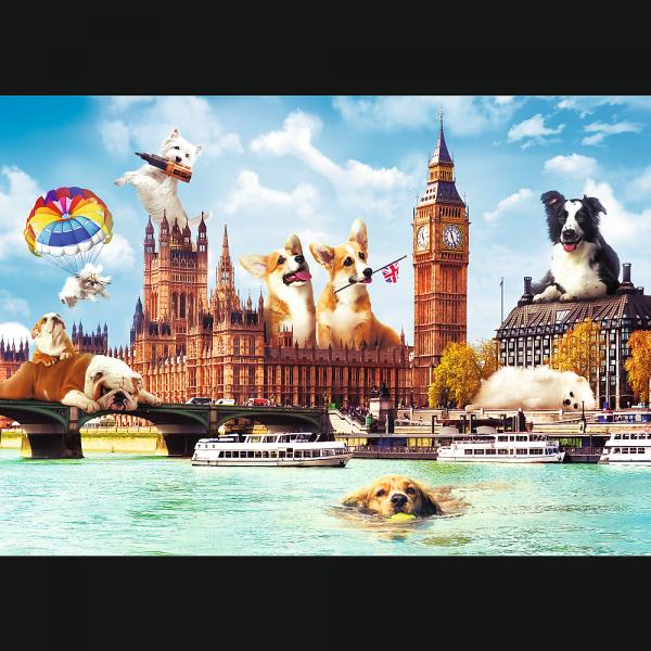Puzzle Funny Cities Psy w Londynie 1000 el.
