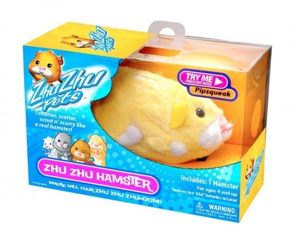 Interaktywny Chomik Zhu Zhu Pets Żółty Pipsqueak TM Toys