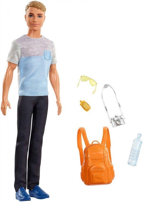 oryginalny Ken z plecakiem Mattel