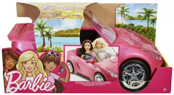 brokatowy kabriolet lalki Barbie