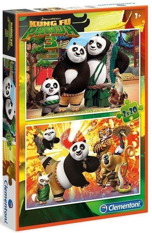 Puzzle 2x20 el. Kung Fu Panda Clementoni