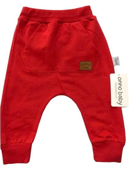 Czerwone Spodnie Dziecięce z kieszonką