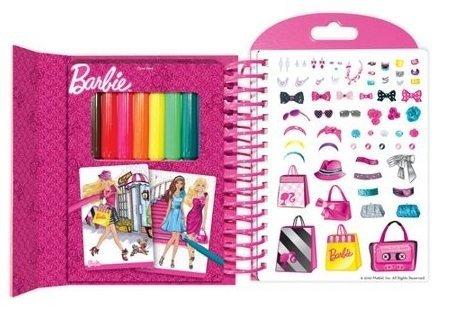 Szkicownik Barbie z naklejkami i pisakami