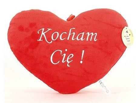 Pluszowe Serce Poduszka Kocham Cię 25x20 cm Walentynki