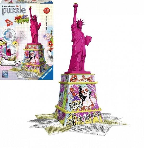 Puzzle 3D Statua Wolności Pop Art 108 el. Ravensburger 125975