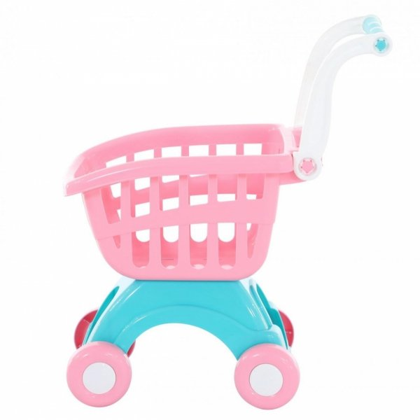 różowy wózek do sklepu