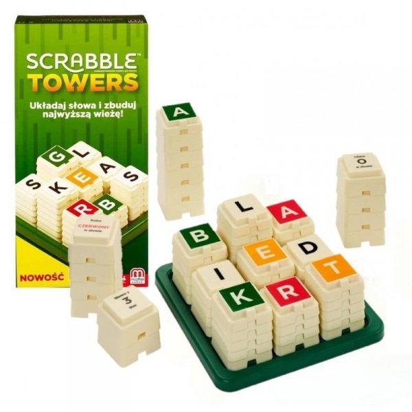 Gra Towarzyska Scrabble Towers Mattel GDJ16