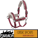 PRZEDSPRZEDAŻ Kantar DOUBLEPIN FAUXFUR GLOSSY - Classic Sports A/W 21 - Eskadron - rustic red