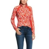 Bluzka damska SUNSTOPPER 2.0 SS20 - ARIAT - red clay toile