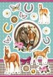 Naklejki z końmi 8,5 x 12 cm