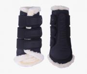 Ochraniacze kontaktowe z futerkiem ASTANA kolekcja jesień-zima 2020/21 - QHP - black