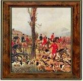 Obrazek w brązowej ramce Kossak wyjazd na polowanie - CARMANI