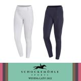 Legginsy jeździeckie damskie GLOSSY RIDING TIGHTS STYLE wiosna-lato 2021 - Schockemohle