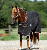 Derka osuszająca RAMBO Deluxe Fleece - HORSEWARE - black/tan/orange