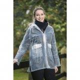Płaszcz przeciwdeszczowy, transparentny - HKM