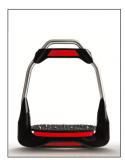 Strzemiona AIRS - FreeJump - czarny/czerwony 0-30